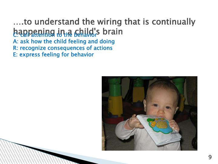 ….to understand the wiring that is continually happening in a child's brain