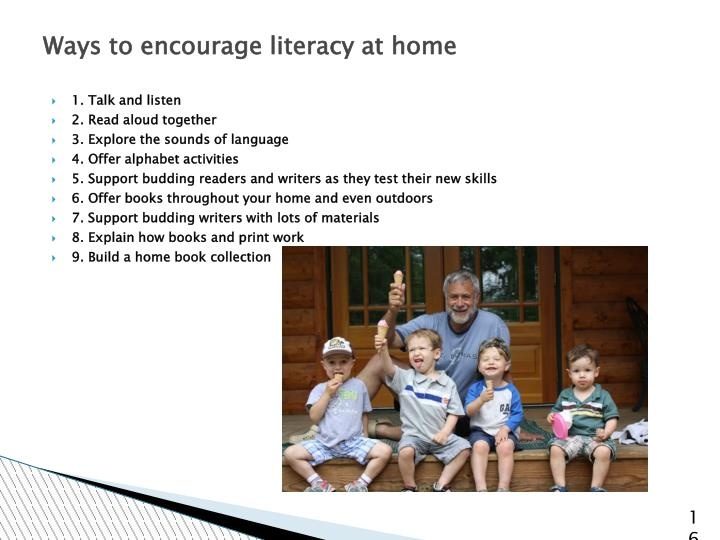 Ways to encourage literacy at home