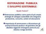 ristorazione pubblica e sviluppo sostenibile quale futuro