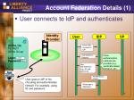 account federation details 1