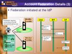 account federation details 3