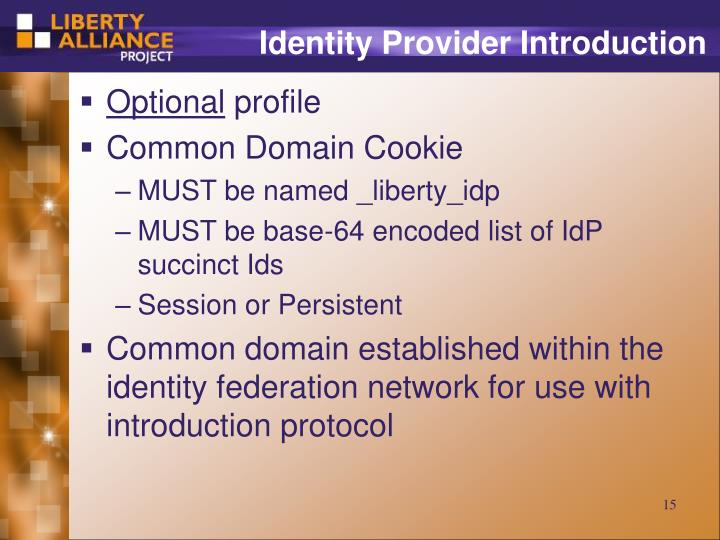Identity Provider Introduction