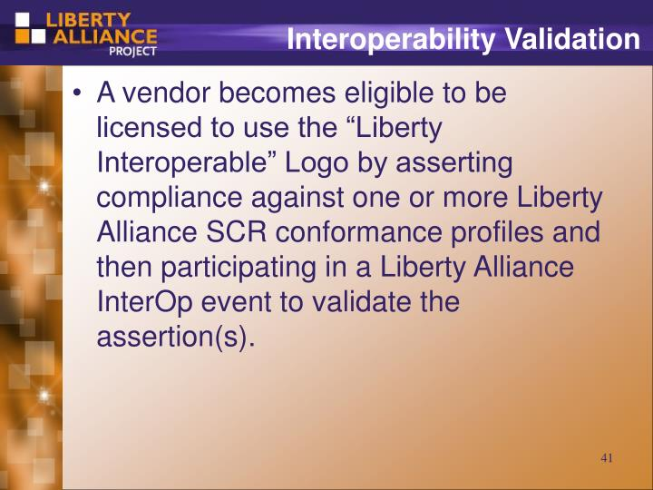 Interoperability Validation