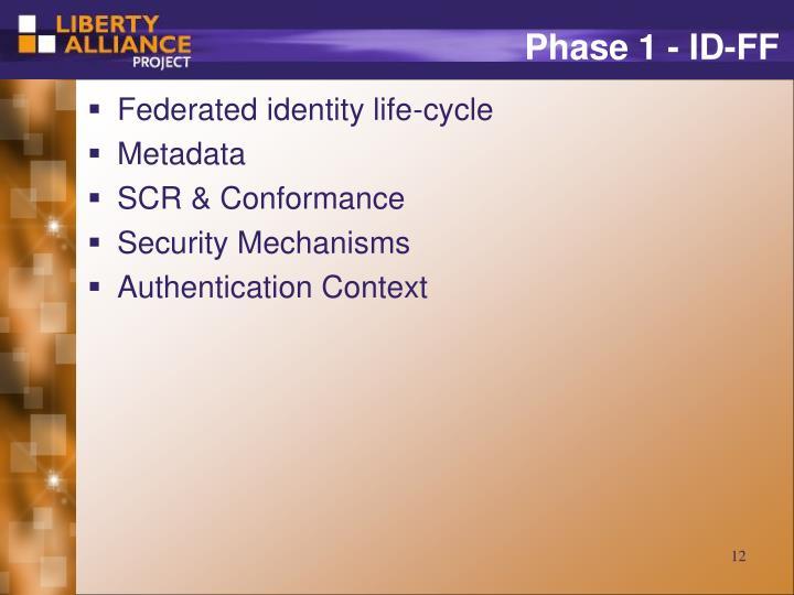 Phase 1 - ID-FF