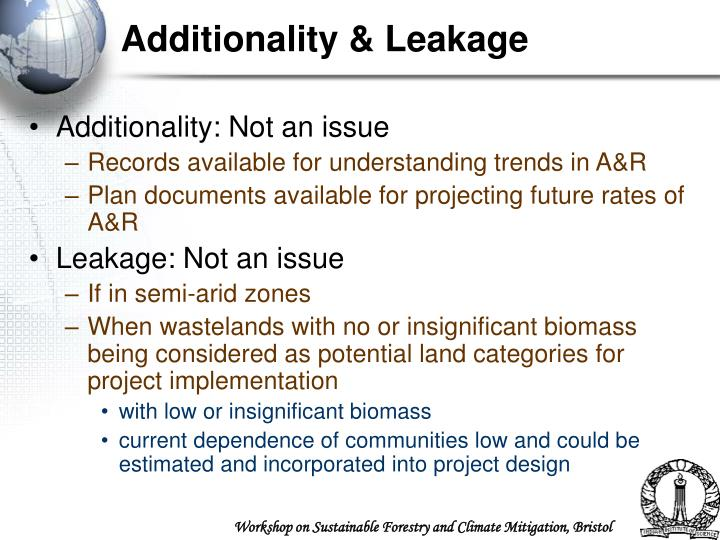 Additionality & Leakage