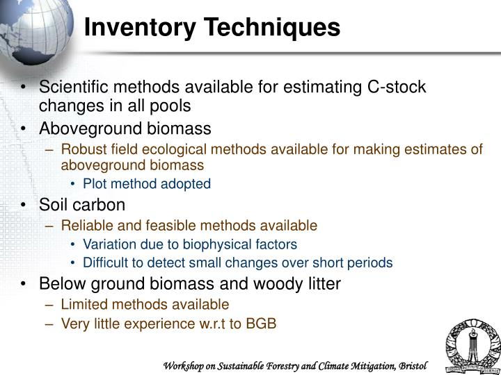 Inventory Techniques