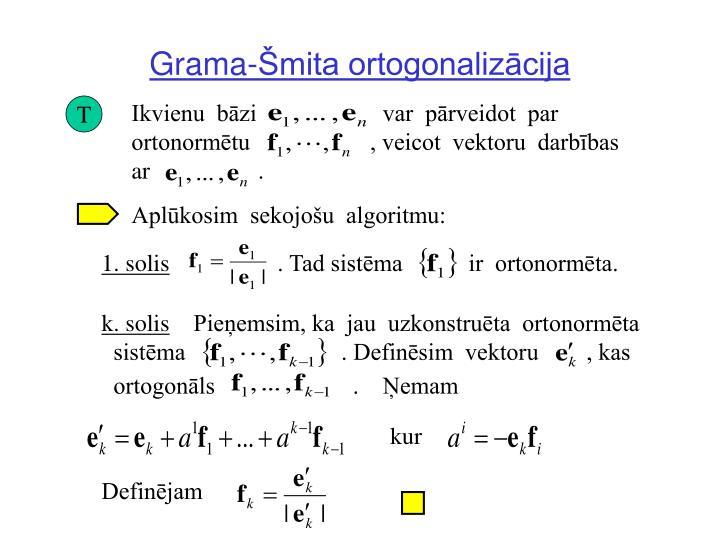 Grama-Šmita ortogonalizācija