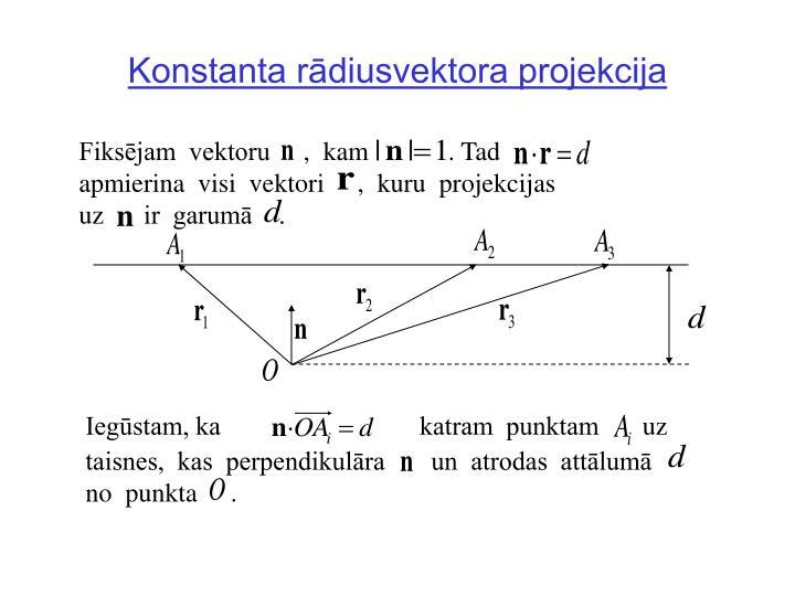 Konstanta rādiusvektora projekcija