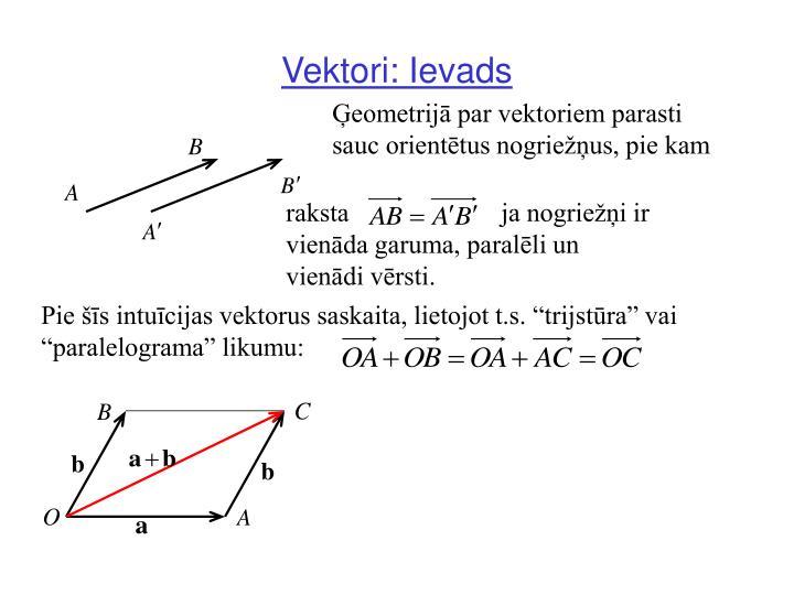 Vektori: Ievads