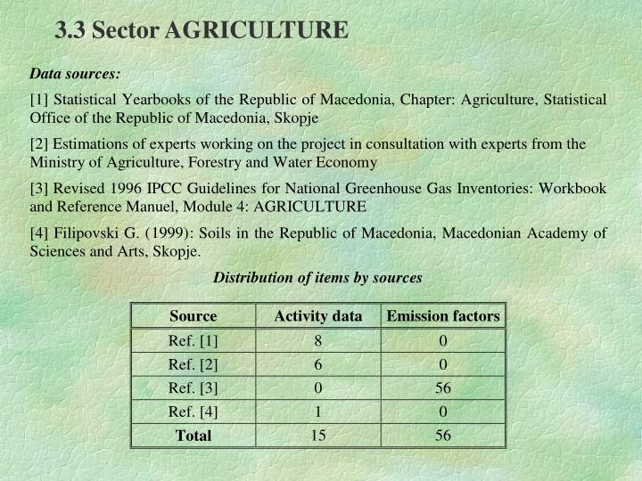 3.3 Sector AGRICULTURE