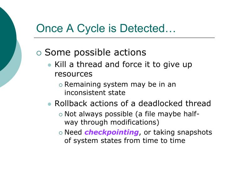 Once A Cycle is Detected…