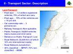 ii transport sector description