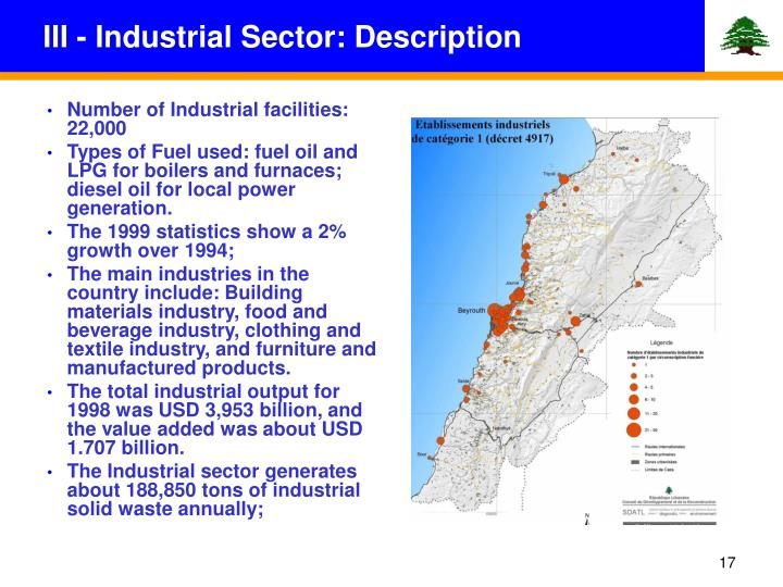 III - Industrial Sector: Description