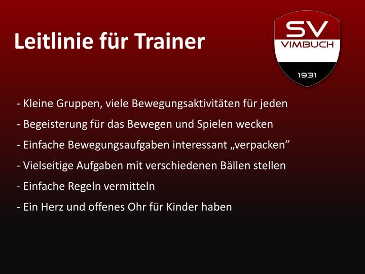 Leitlinie für Trainer