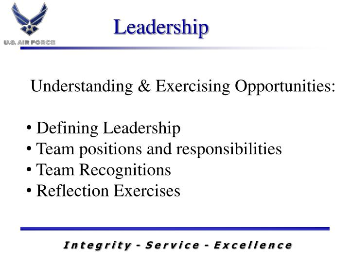 Understanding & Exercising Opportunities: