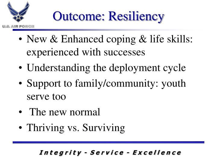 Outcome: Resiliency