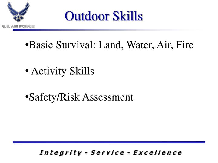 Basic Survival: Land, Water, Air, Fire
