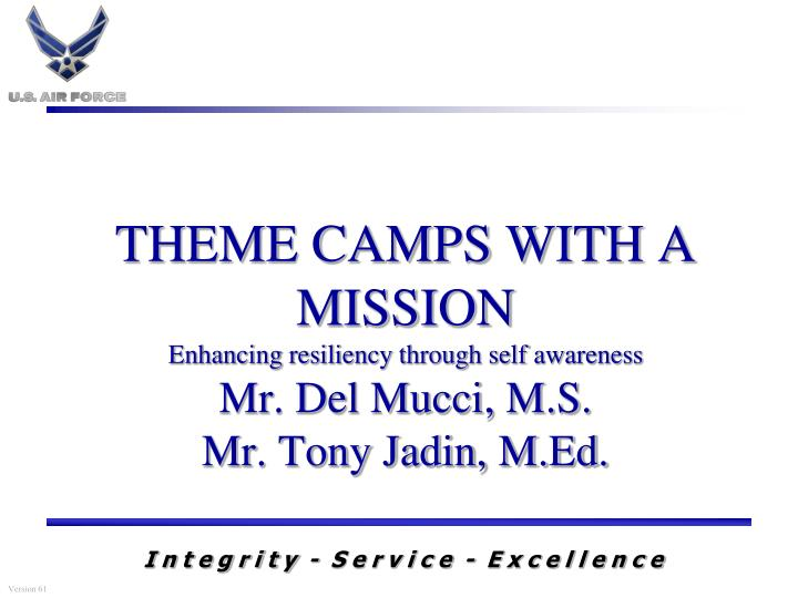 THEME CAMPS WITH A MISSION