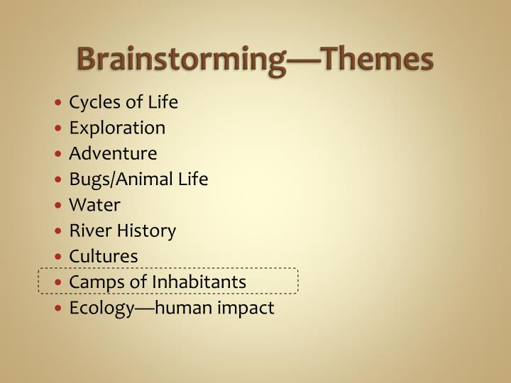 Brainstorming—Themes