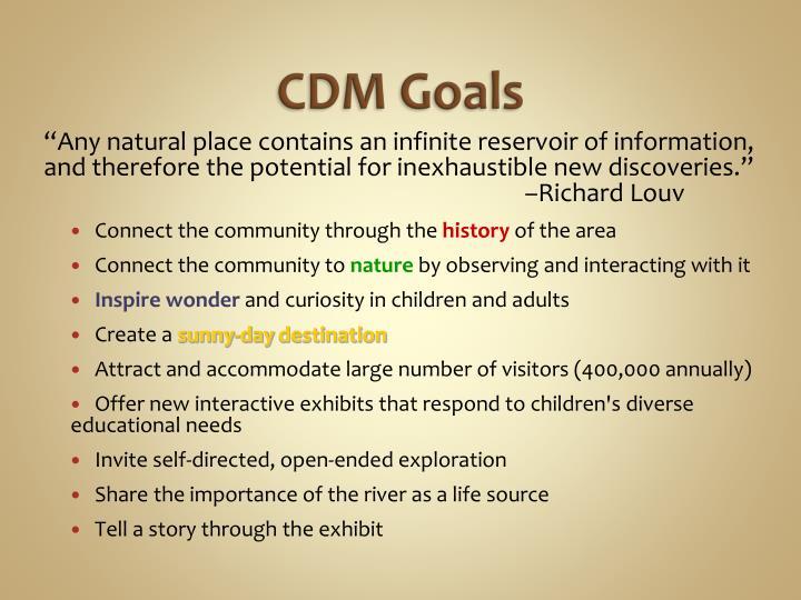 CDM Goals