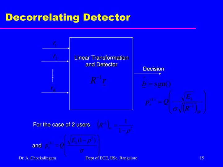 Decorrelating Detector