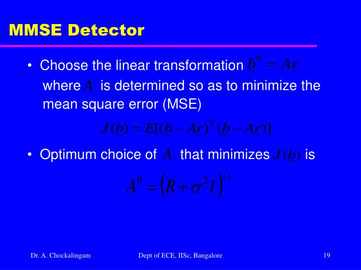 MMSE Detector