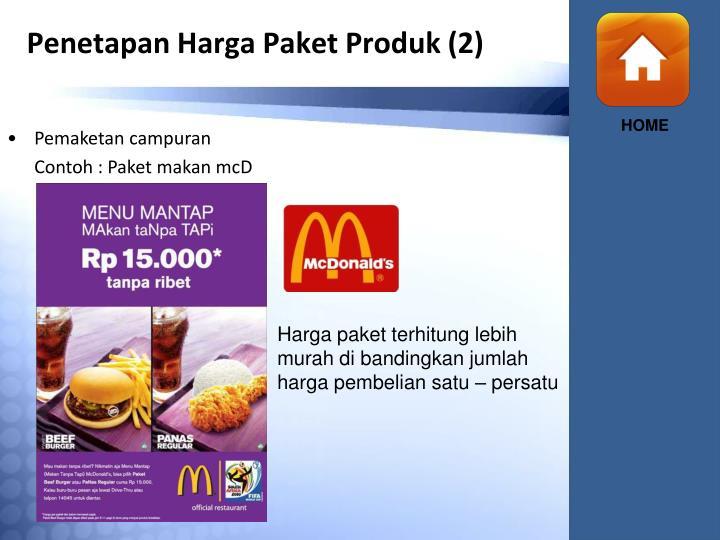 Penetapan Harga Paket Produk (2)