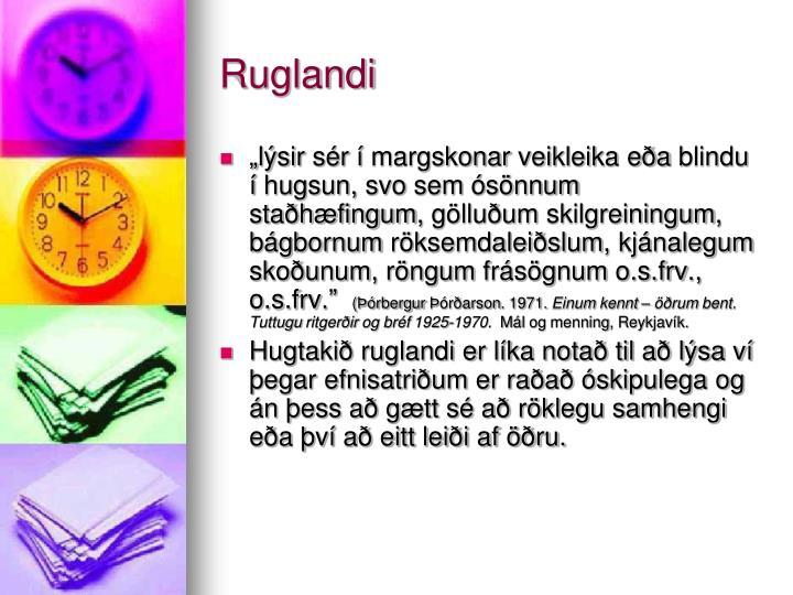 Ruglandi