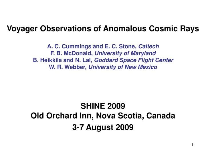 Voyager Observations of Anomalous Cosmic Rays