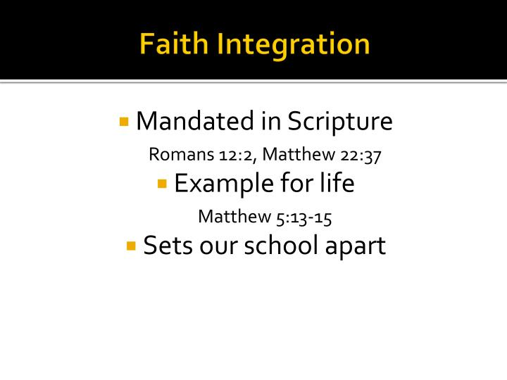 Faith Integration