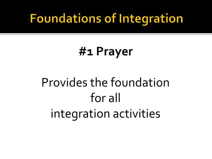 Foundations of Integration