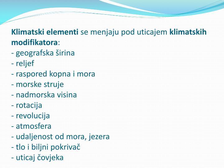 Klimatski elementi