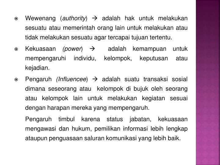Wewenang (
