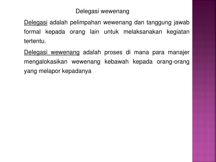 Delegasi wewenang
