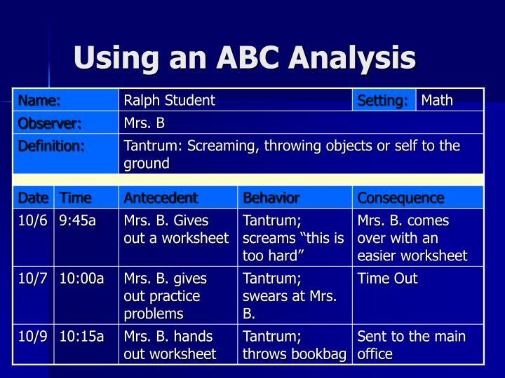 Using an ABC Analysis