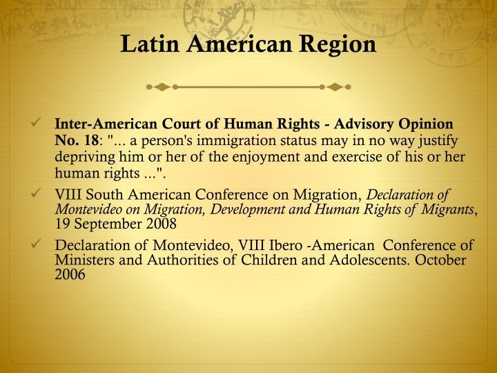 Latin American Region