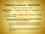multilateral agreements mercosur