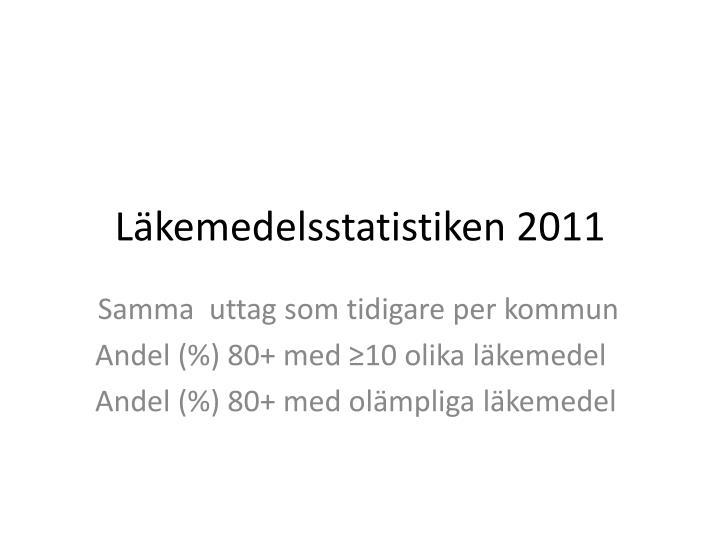 Läkemedelsstatistiken 2011