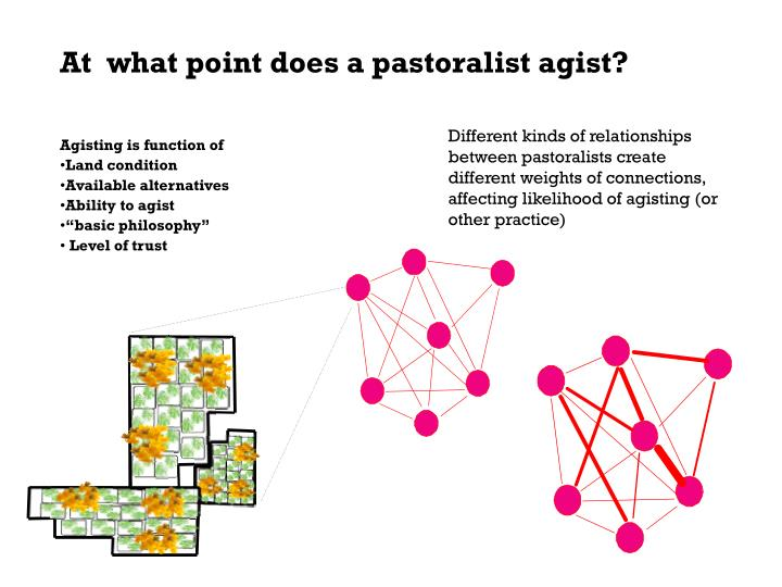 At  what point does a pastoralist agist?