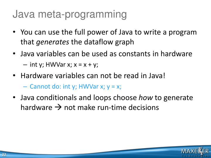 Java meta-programming