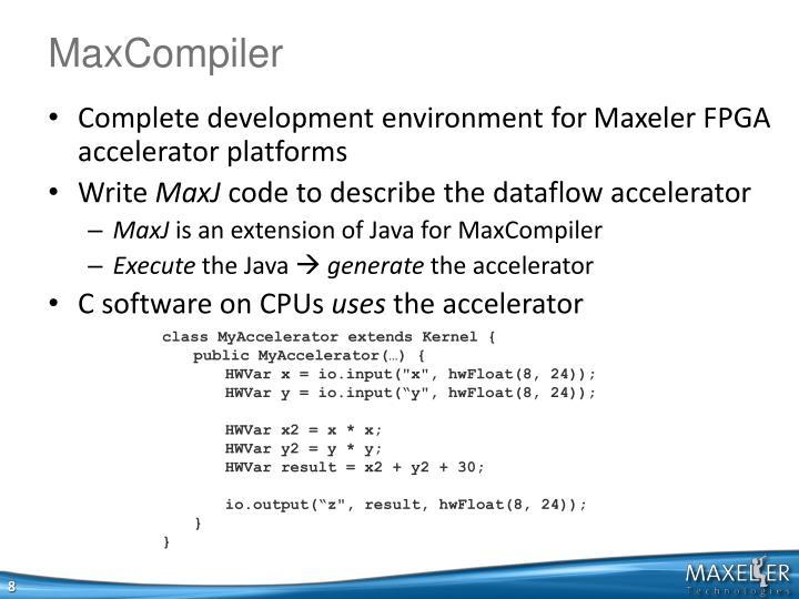 MaxCompiler