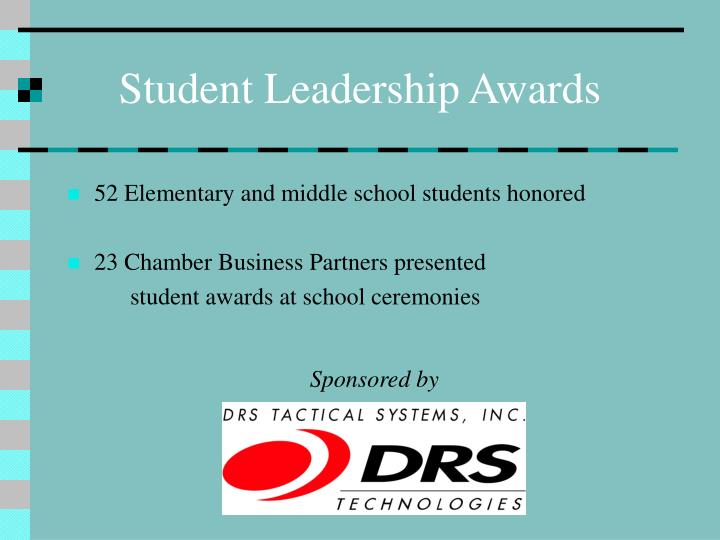 Student leadership awards1