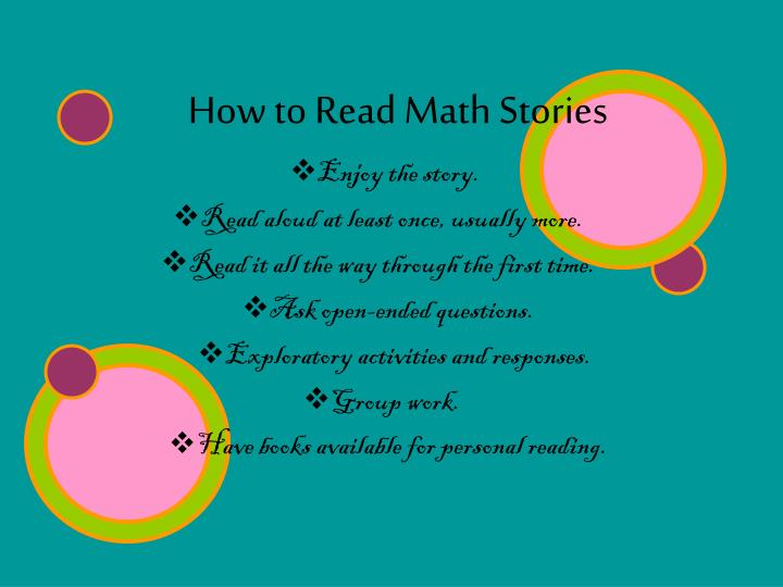 How to Read Math Stories