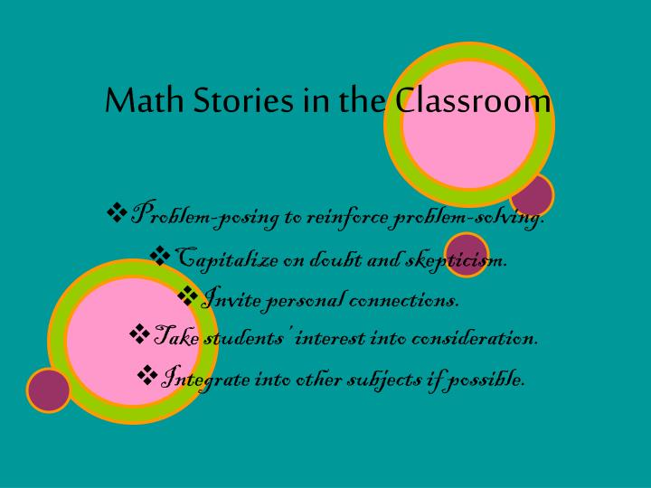 Math Stories in the Classroom