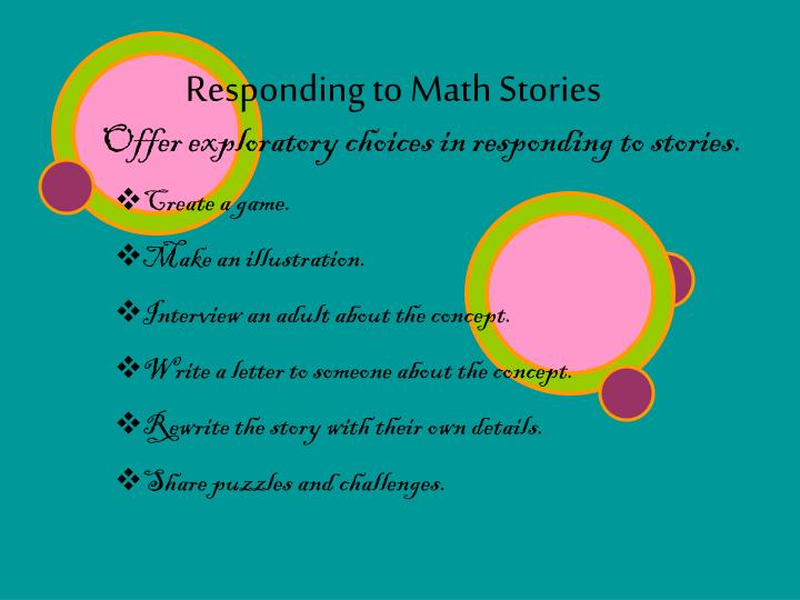 Responding to Math Stories