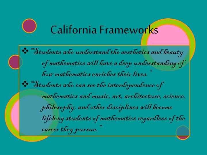 California Frameworks