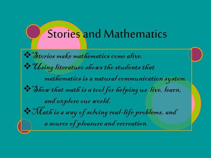 Stories and Mathematics
