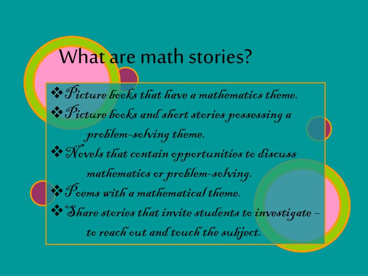 What are math stories?