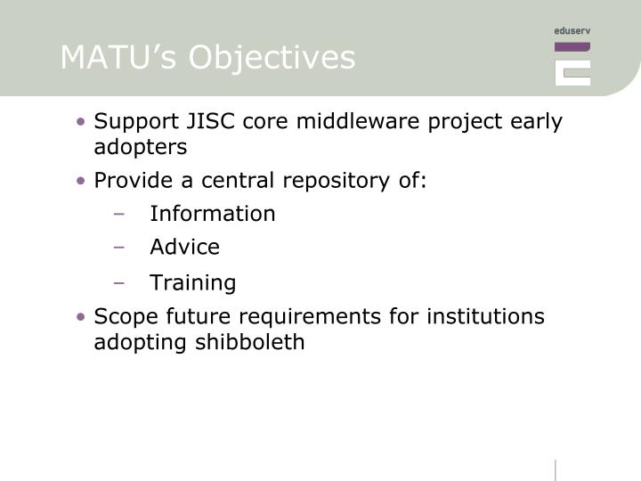 Matu s objectives