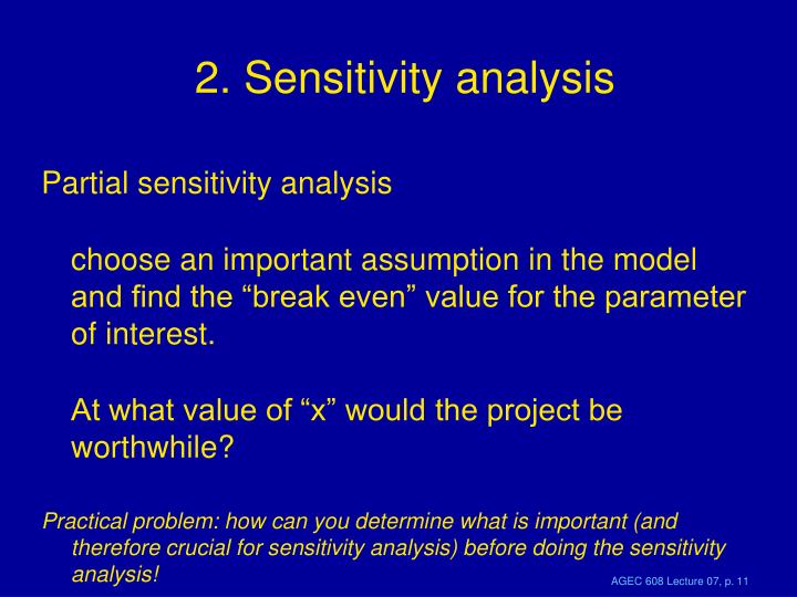 2. Sensitivity analysis
